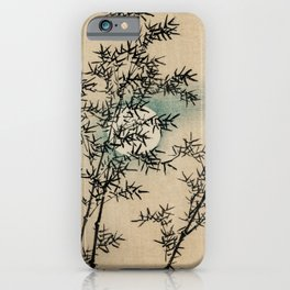 Bamboo Branches Traditional Japanese Flora iPhone Case