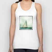 cape cod Tank Tops featuring sailing cape cod seas by marie grady palcic