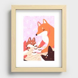 Hot Cocoa Recessed Framed Print