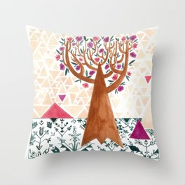 Mysterious tree Throw Pillow