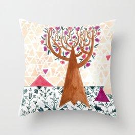 Mysterious tree Throw Pillow