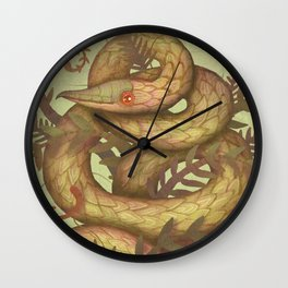 The Fern Viper Wall Clock