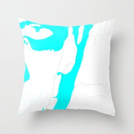 Cyan Rick Genest & Shaddow Throw Pillow