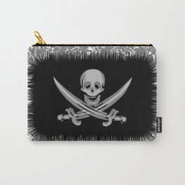 The Jolly Roger of Calico Jack. Vector illustration of a stylized flag. Shaggy edge. Carry-All Pouch