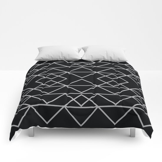 Triangles In Silver Comforters