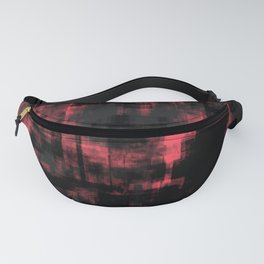 Pink Black and Gray Abstract Fanny Pack