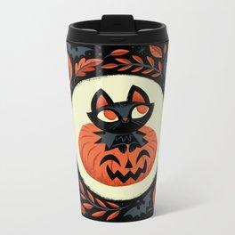 Happy Halloween Metal Travel Mug