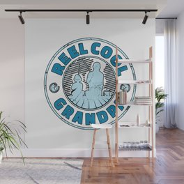 Reel Cool Grandpa Fishing Fathers Day Reel Cool Fishing Gifts for Grandpa I Granddad Gift Wall Mural