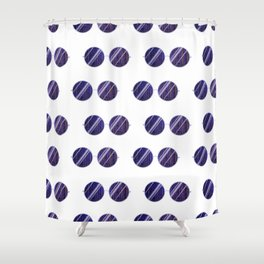 Purple Universe Glasses Shower Curtain