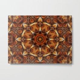 Brown Tan Gold Kaleidoscope Art 9 Metal Print