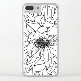 Dahlia 1 Clear iPhone Case