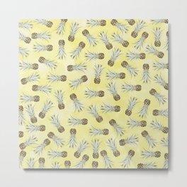 Pineapple Jam Minis Yellow Metal Print