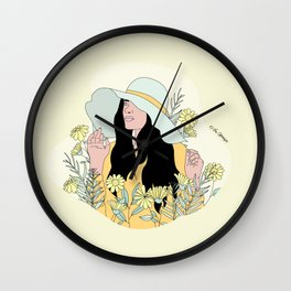 You're My Sunflower Wall Clock