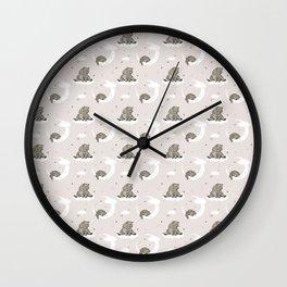 Moonlight teddy bear Wall Clock