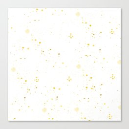Hand painted yellow gold watercolor splatters Canvas Print
