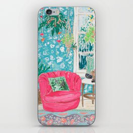 Pink Tub Chair iPhone Skin