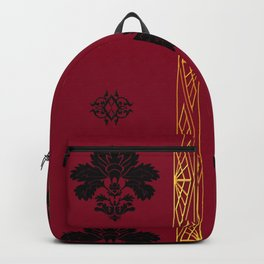 Chic Classique Art Deco Burgundy Red Backpack