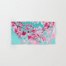 Cherry Blossom Aqua Hand & Bath Towel