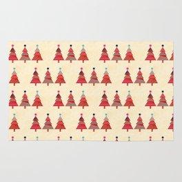 Three Christmas Trees Rug