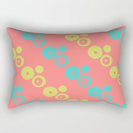Multicolored abstract dotted pattern Rectangular Pillow