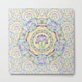 Iris Nouveau Metal Print