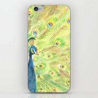 peacock iPhone & iPod Skins featuring Peacock by Annie Mason