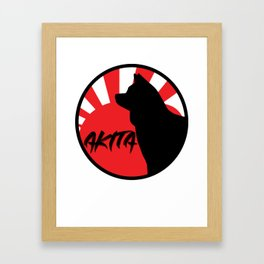 Akita Dog Christmas Gift T-Shirt Framed Art Print