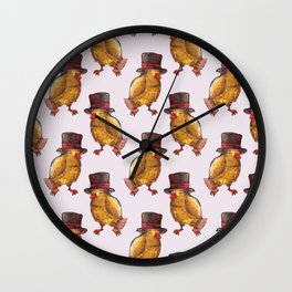 chicken hat magical Wall Clock
