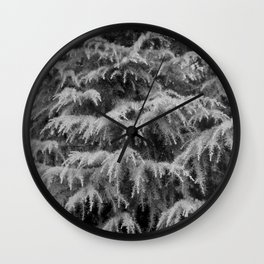 Evergreen Needles Background Wall Clock