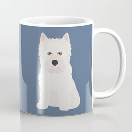 White West Highland Terrier Dog Coffee Mug