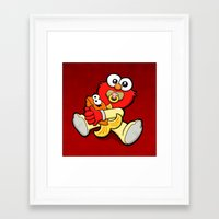 elmo Framed Art Prints featuring Baby Elmo & Dorothy by BinaryGod.com