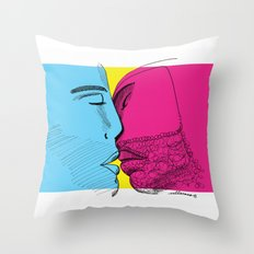 Primary kiss Throw Pillow
