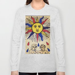 Le soleil Tarot card design Long Sleeve T-shirt