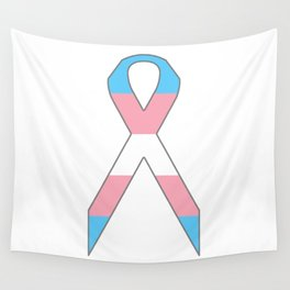 Transgender Ribbon Wall Tapestry