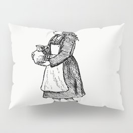 Peasant girl from Sunshine And Sea A Yachting Visit To The Channel Islands And Coast Of Brittany Pillow Sham