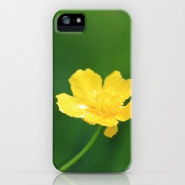 Swamp Buttercup Wildflower iPhone Case