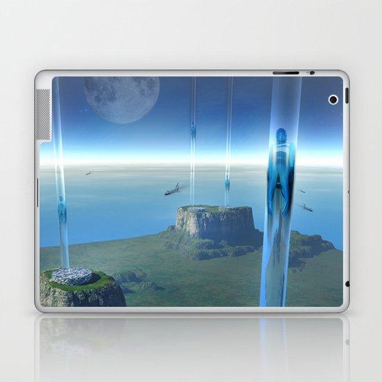 space elevator - babylon transfer station  Laptop & iPad Skin