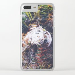 autumn snow Clear iPhone Case
