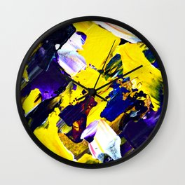 Yellow Intersections Wall Clock