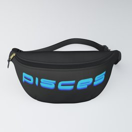 Pisces (Blue Text) Fanny Pack