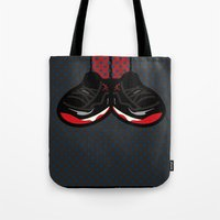 air jordan Tote Bags featuring AIR JORDAN 11 by originalitypieces