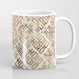 Square Double Happiness pattern - Pastel gold #1 Coffee Mug