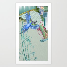 Blue Headed Parrot Art Print