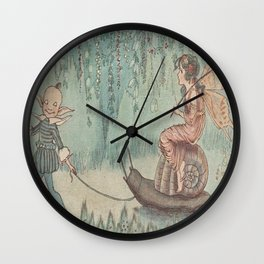 """""""Upon a Snail Coach She Rode."""" By Hilda Miller 1915 Wall Clock"""