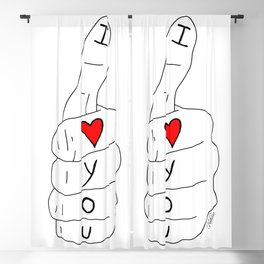 I love you - thumbs up Blackout Curtain
