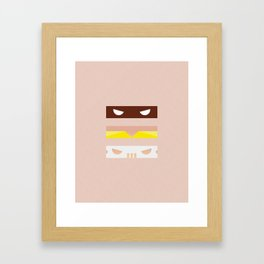 Teenage Minimal Ninja Good Guys Framed Art Print