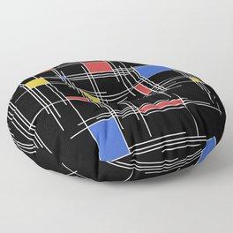 Mondrian Scratch Art 2 Floor Pillow