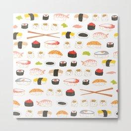 Sushi Pattern Metal Print