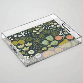 Botanical Sketchbook M+M Navy by Friztin Acrylic Tray