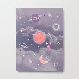 Cloudy Space Metal Print